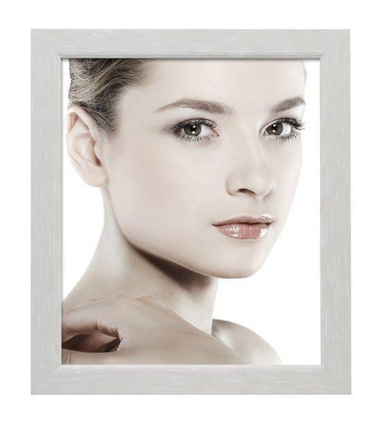Deknudt Frames fotokader hout, wit-grijs geschilderd fotomaat 50x50 cm