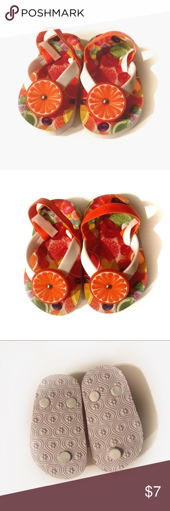 Orange Jelly Bean Sandals Orange jelly bean sandals size 4/5 in excellent condition, worn once. Fits better for a size 4. Shoes Sandals & Flip Flops