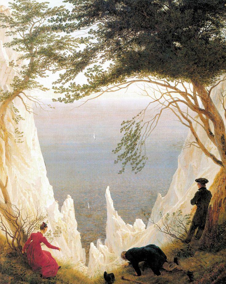 Chalk Cliffs on Rügen, c. 1817 - Caspar David Friedrich