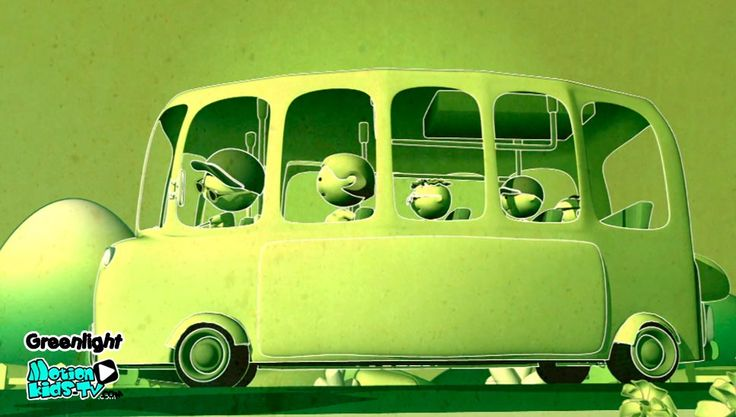 Autobus escolar. Imagenes seguridad vial infantil, educacion vial niños. Serie dibujos GreenLight