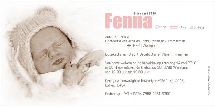 Geboortekaartje met in de hoofdrol het pasgeboren baby'tje. #newborn #baby #fotografie #geboortekaartje #kinderfotograafpatrick