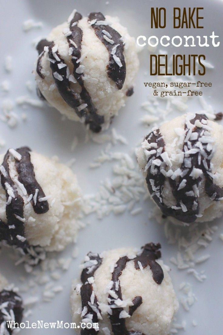 No-Bake Coconut Delights (sugar, dairy, egg, and grain free)