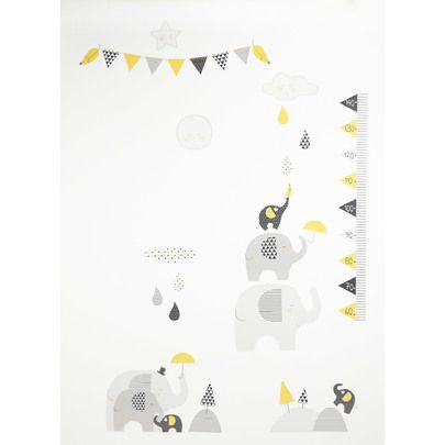 Babyfan stickers muraux Gris de Sauthon Baby Déco