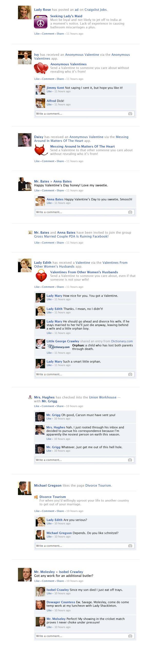 Downton Abbey Facebook Recap - Season 4, Episode 1 | Happy Place