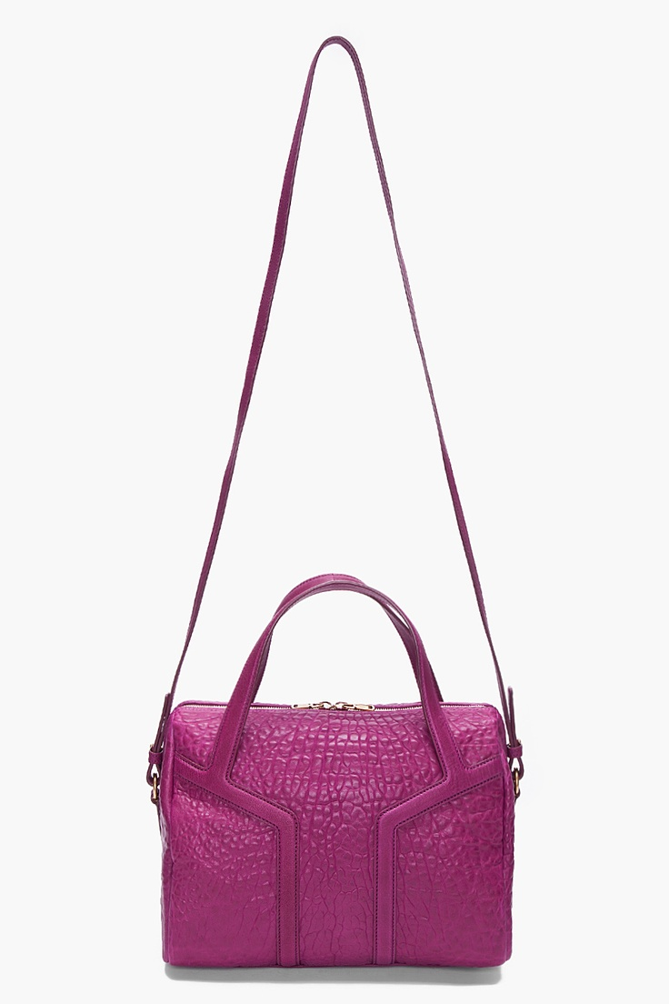 YVES SAINT LAURENT Amethyst New Y Duffle Bag