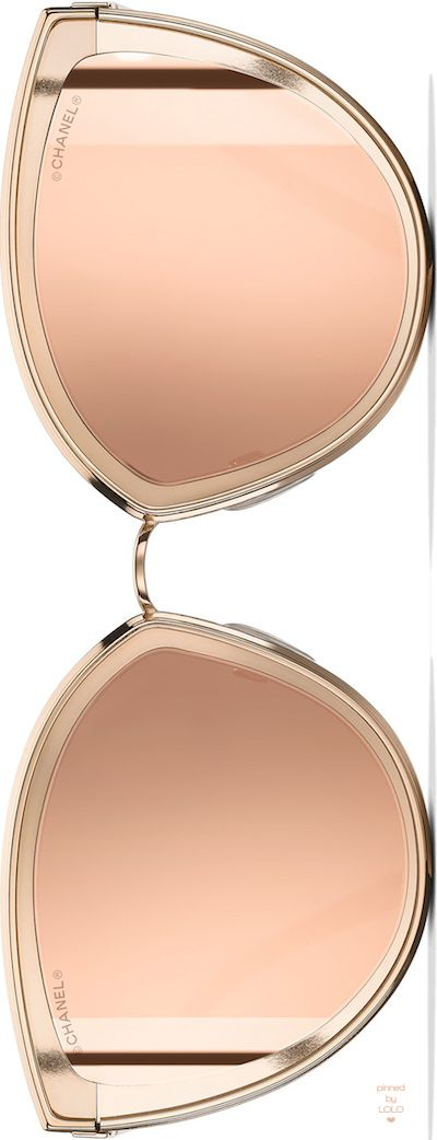 #chanel Cat Eye Summer Pink Gold Sunglasses