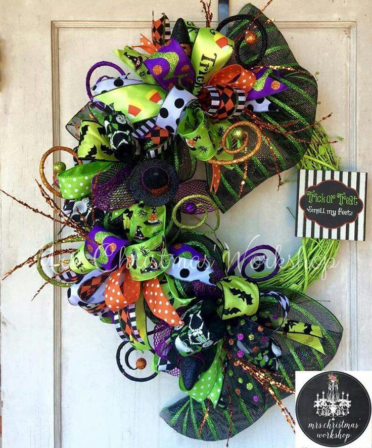 Halloween bows wreath