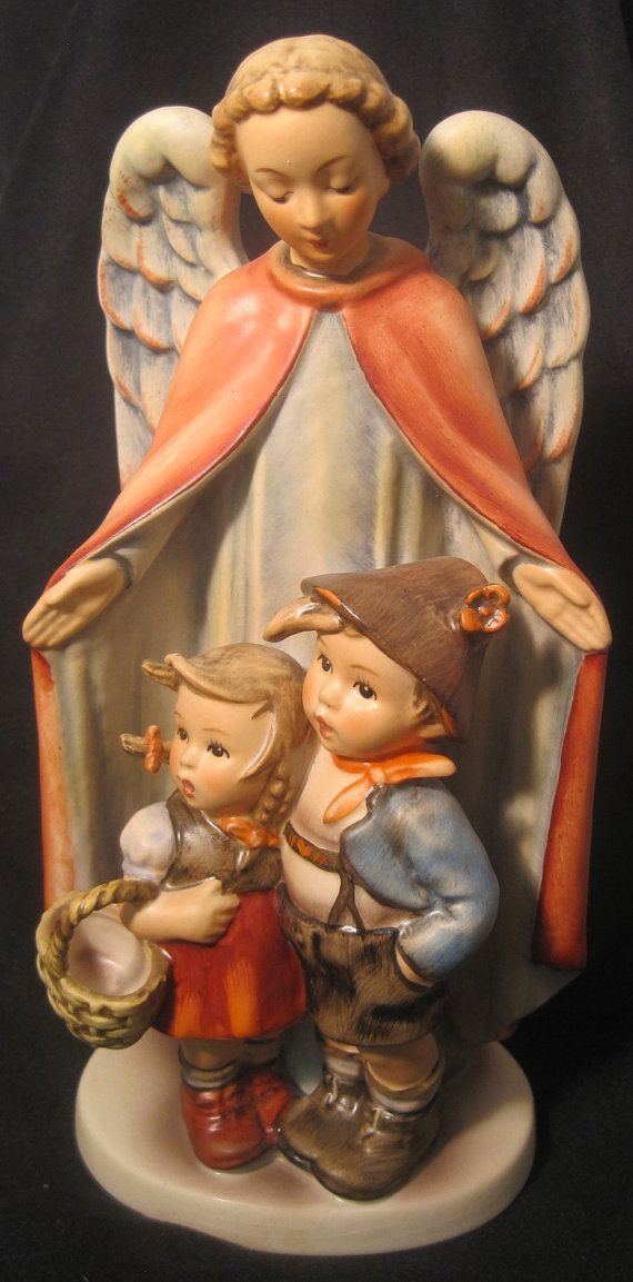 "M.I. Hummel Figurine ""Guardian Angel with Chlidren"""