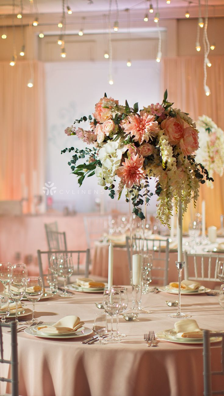 Lamour Satin 132 Quot Round Tablecloth Blush Rose Gold In