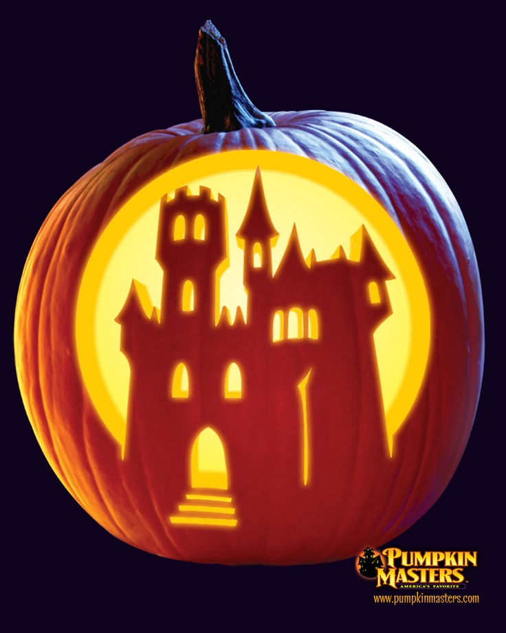 """""""Haunted Night"""" from Pumpkin Masters. Check this one and other free patterns out on our website: http://www.pumpkinmasters.com/free-patterns.asp"""