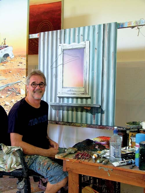 John Murray has established himself as one of the outback's most successful landscape artists through the realism and humour of his paintings.