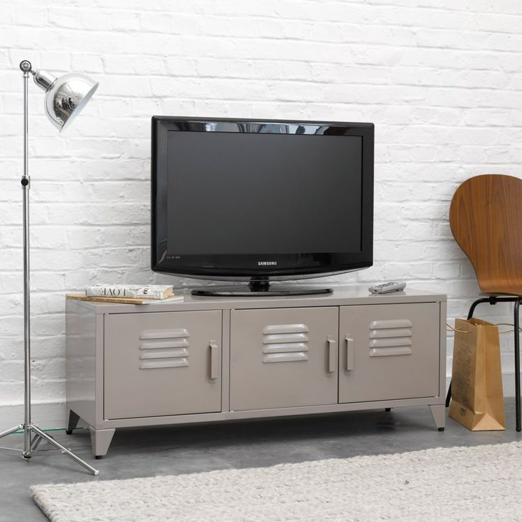 1000 ideas about metal tv stand on pinterest fireplaces tv consoles and tv stands. Black Bedroom Furniture Sets. Home Design Ideas