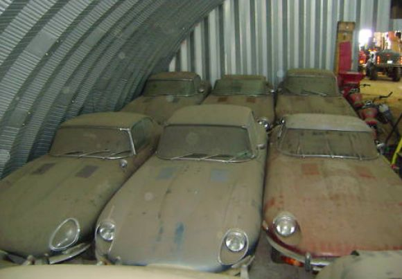 Jaguar E Types - would love to have this stash somewhere.
