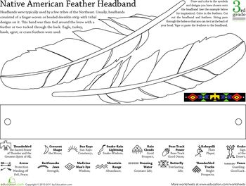 native american feather headband and native american