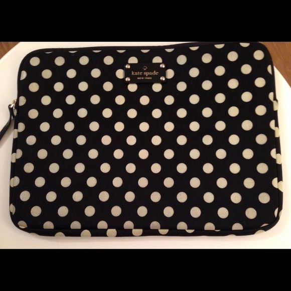 Kate Spade MacBook Pro 13'' Sleeve Kate Spade MacBook Pro 13'' Sleeve with Black and White Polka Dots kate spade Accessories Laptop Cases