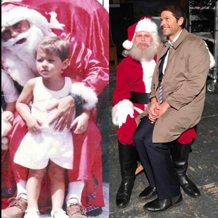 Supernatural: Baby Misha and Santa/Misha Collins and Mark ...