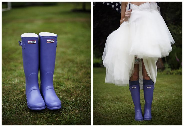 100 ways to personalize your wedding-rain boots are a perfect touch to a spring seattle wedding :)