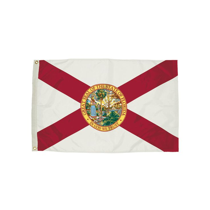 3X5 NYLON FLORIDA FLAG HEADING &