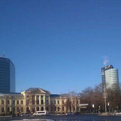 Zi de iarnă în Bucureşti.