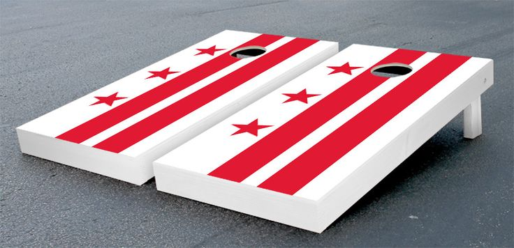 District of Columbia Flag Cornhole Game Set