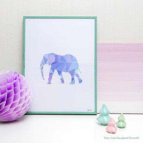 E for Elefant A4 Print