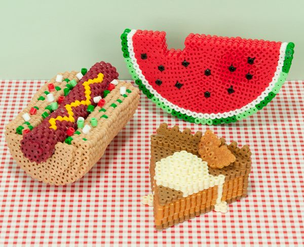 plastic bead patterns | images of perler project ideas teen & beyond 3 d picnic faves ...