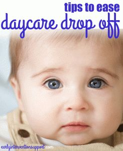 A few tips to ease the day care drop off transition #parenting