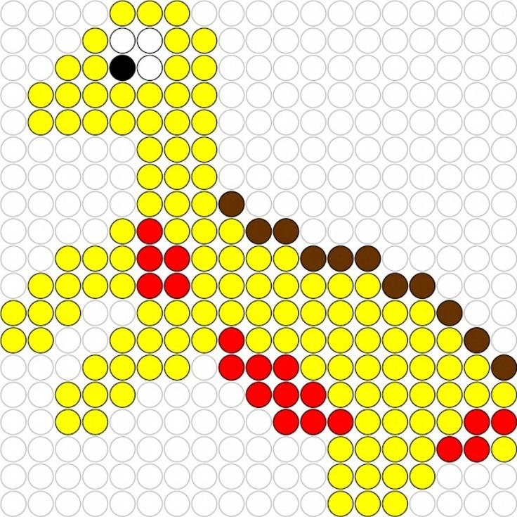 Dino hama perler beads pattern