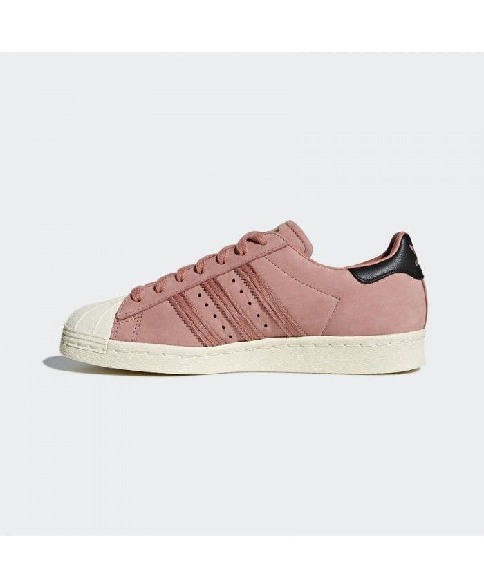ef82dec11f Adidas Superstar 80S Womens Trainers In Ash Pink Black White ...