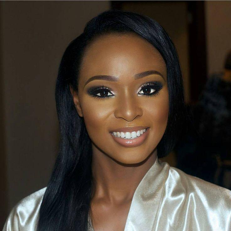 Dark Skin Wedding Makeup : Best 25+ Black bridal makeup ideas on Pinterest