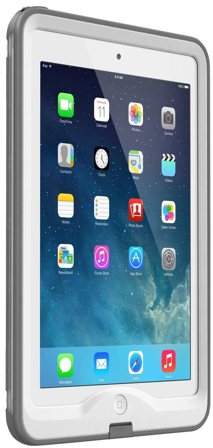 LifeProof Nuud Case suits iPad mini Retina Display - White Grey - he nuud is easily the thinnest, lightest all-protective case ever made for iPad mini device. The waterproof seal protects your device from water and d...