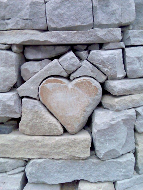 A heart shaped rock