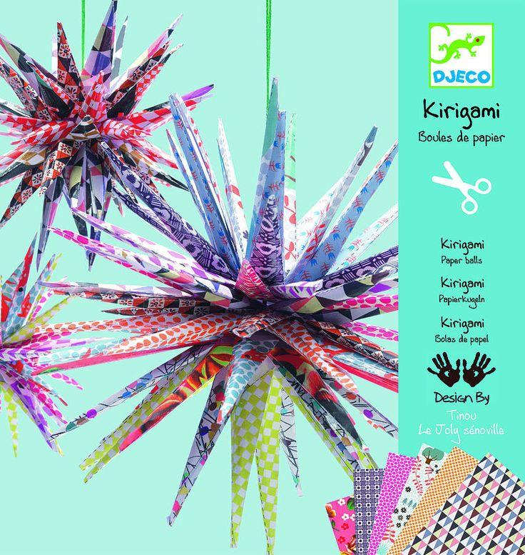 kirigami paper ball decorations kit by nest | notonthehighstreet.com