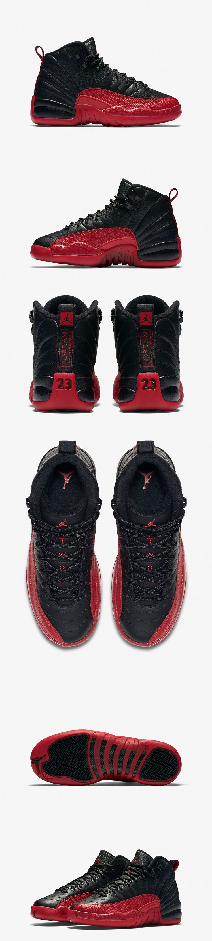 "Kids' Air Jordan 12 Retro ""Flu Game"" (Black/Varsity Red) - EU Kicks: Sneaker Magazine"