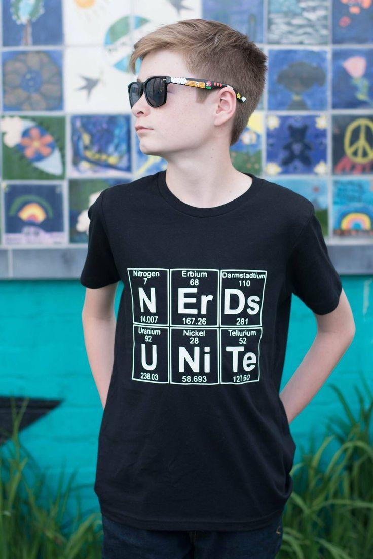 Nerds Unite shirt - nerdy tee - geek shirt - awesome shirt - best shirt ever - nerd shirt - periodic table - science shirt by shopZeroFoxGiven on Etsy https://www.etsy.com/listing/511304250/nerds-unite-shirt-nerdy-tee-geek-shirt
