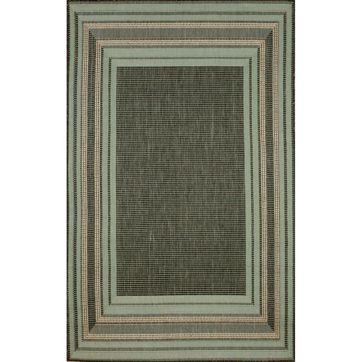 """Brand: Trans Ocean Name: Terrace Etched Border From Overstock: Sonoma Border Transitional Outdoor Rug 7'10"""" x 9'10"""" $135"""