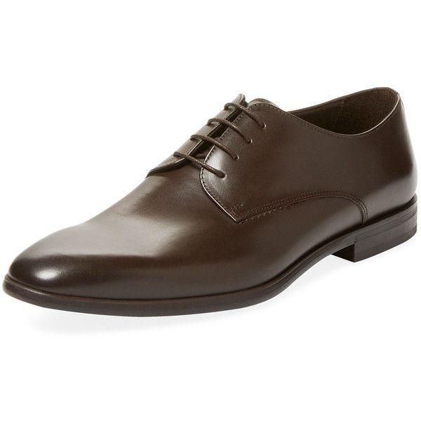 Bruno Magli Men's Seneca Derby Shoe - Dark Brown - Size 10 ($209) ❤ liked on Polyvore featuring men's fashion, men's shoes, men's dress shoes, dark brown, mens dress shoes, bruno magli mens shoes, dark brown mens dress shoes, mens shoes and mens derby shoes