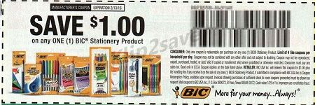 Bic Wite-Out coupon