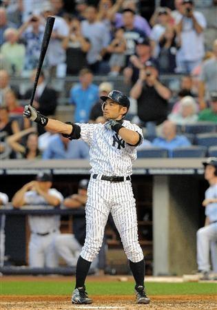 Ichiro Suzuki makes his debut in Bronx wearing New York Yankees pinstripes.