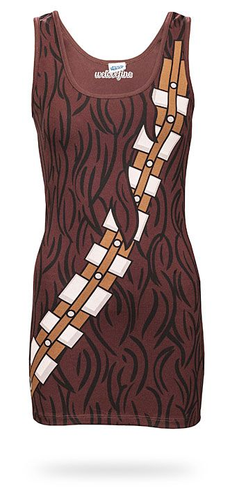 ThinkGeek :: I Am Chewbacca Ladies' Tunic Tank  It would be so, so funny to be Chewbacca for Halloween.