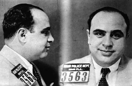 Al Capone Mug Shot poster Metal Sign Wall Art 8in x 12in