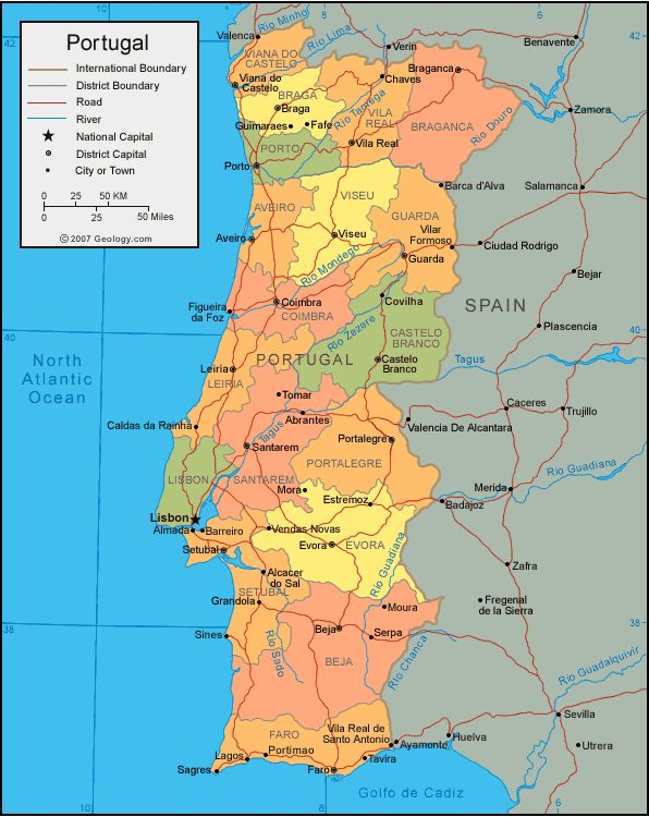 Best Map Of Portugal Ideas On Pinterest Best Places In - Portugal map south