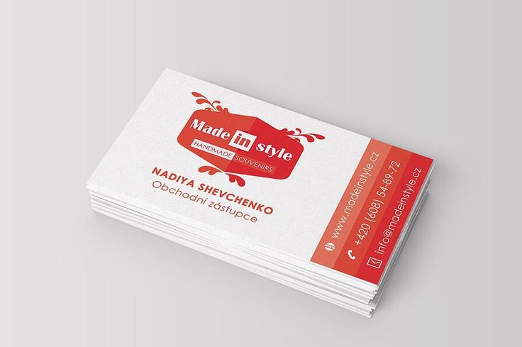 New fresh look of Made in Style company:#Logo and #BusinessCard by me #graphicdesign #deisgn #red #visitcard #mockup