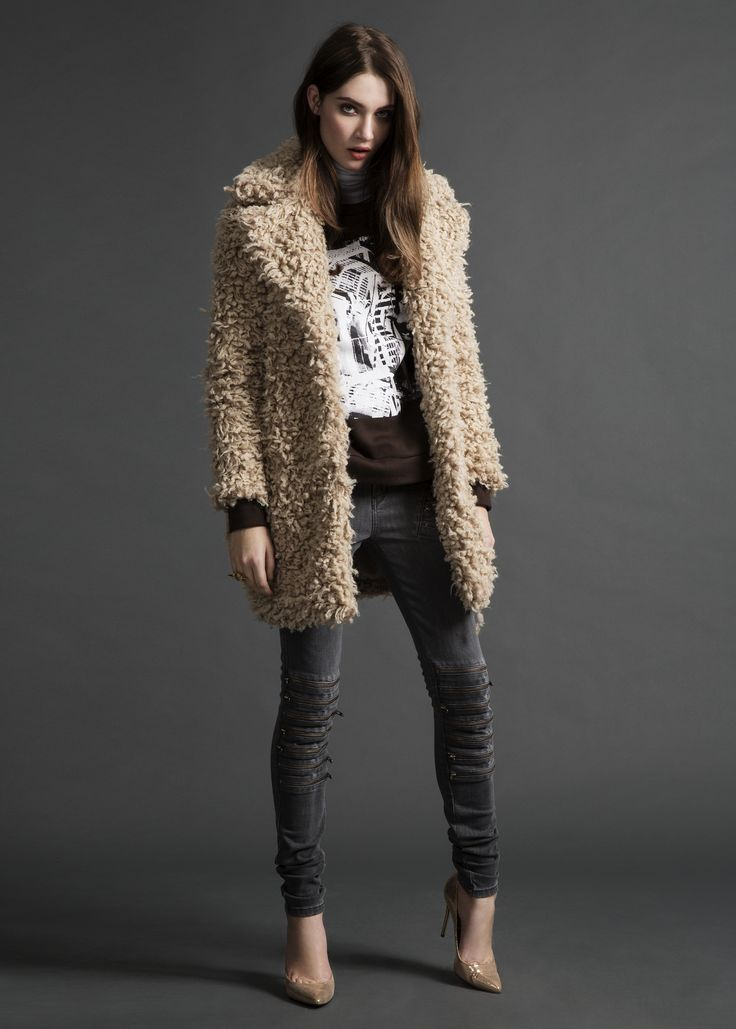 Odyssey coat, Tweak sweater & Paradise Zip jeans #Odyssey #coat #Tweak #sweater #ParadiseZip #jeans #AW14 #Lookbook #SuperTrash