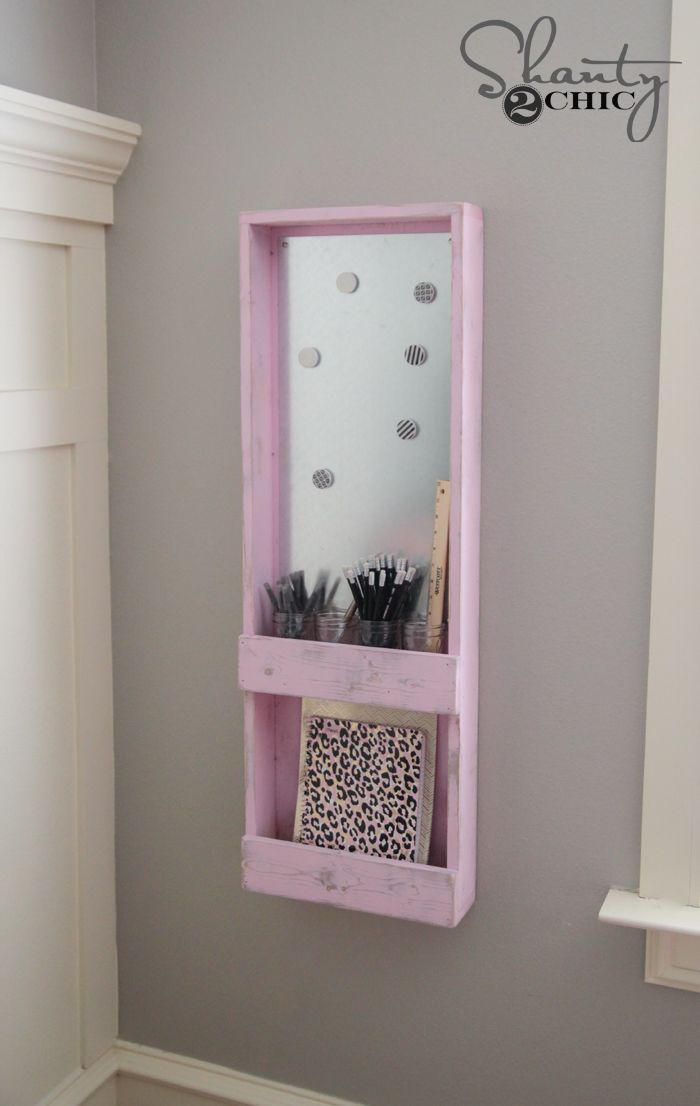 DIY Magnetic Supply Organizer for the Wall