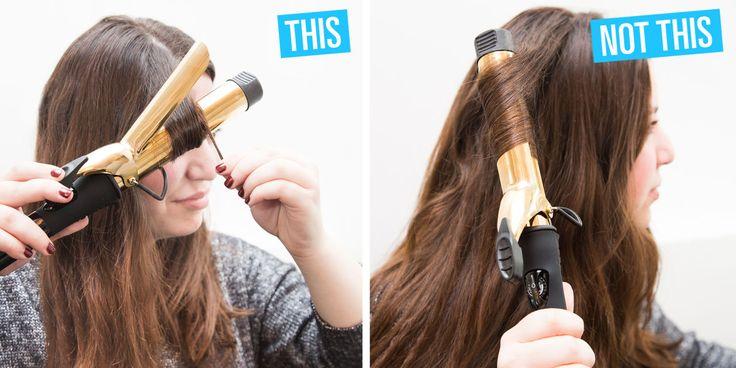 10 handige tips om je haar te krullen met een krultang