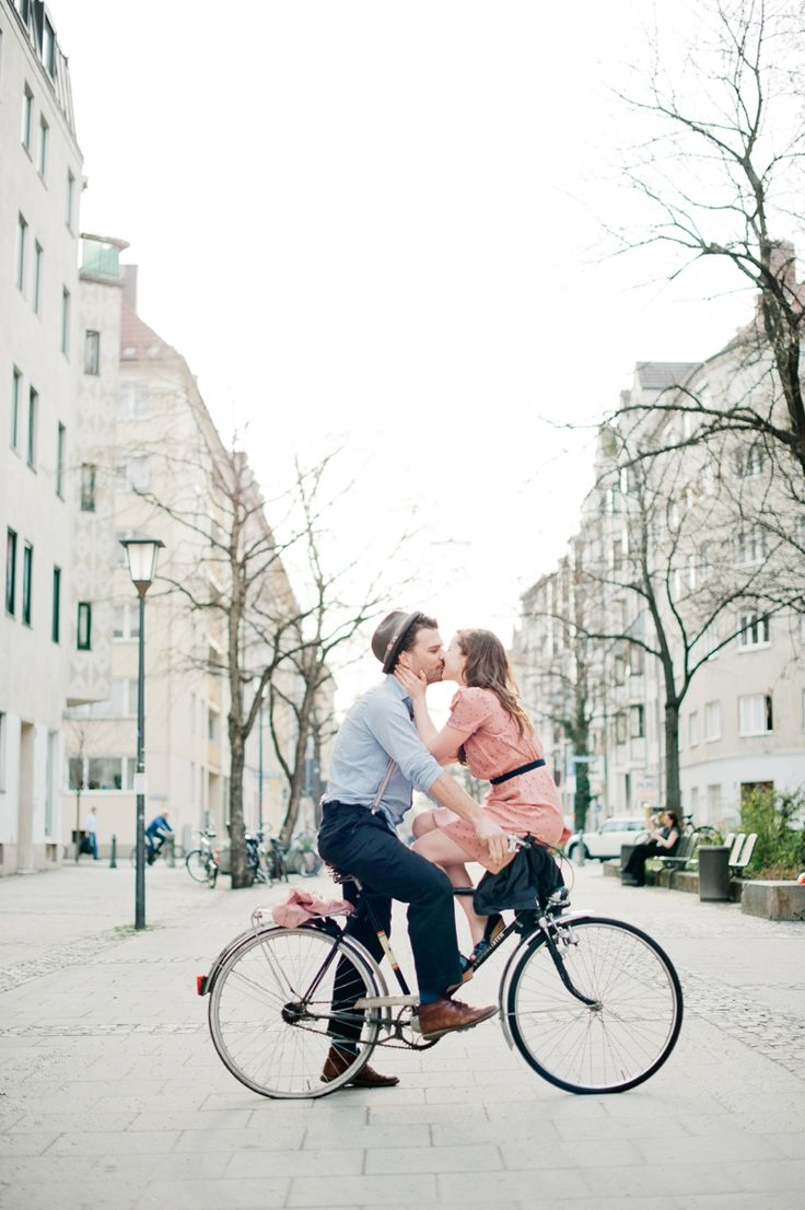 A bicycle built for two! Photo by Nadia Meli Photography. www.wedsociety.com #engagement #photography