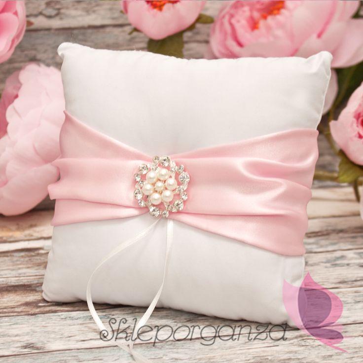 poduszka jasny róż poduszka na obrączki pudrowy róż poduszka różowa poduszka pod…