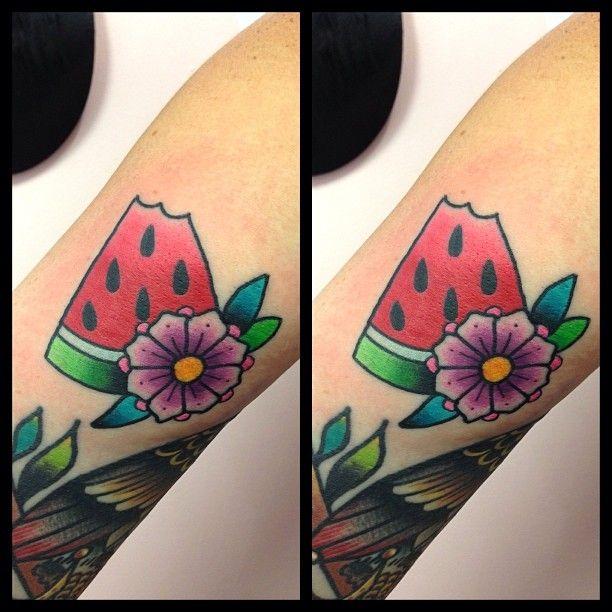 tilly dee tillydee likl watermelon tattoo tattoos pinterest watermelon tattoo tattoo. Black Bedroom Furniture Sets. Home Design Ideas
