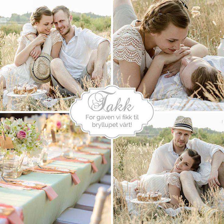 Fotokort: takkekort bryllup. http://eurofoto.no/produkter/kort-og-skrivesaker/